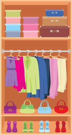 Wardrobe Stock Vector - 11113072