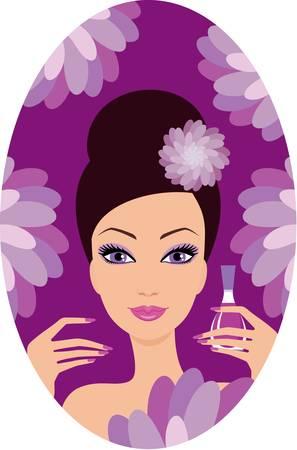 nail: Beautiful woman with nail polish
