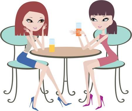 due amici: Due amici in caffetteria