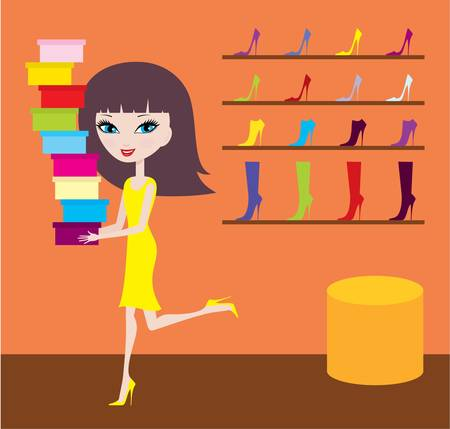 Sale in footwear shop Stock Vector - 11113035