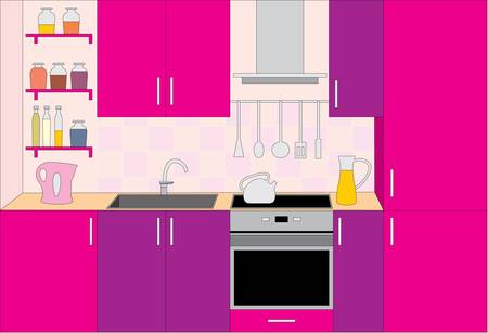 Kitchen furniture. Interior Stock Vector - 11168771