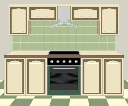 Kitchen furniture. Interior Stock Vector - 11168773