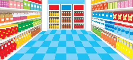 Supermarket Stock Vector - 11227640