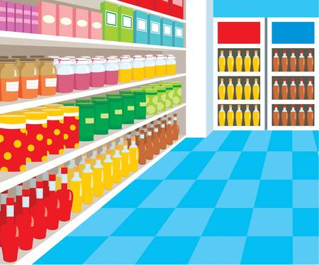 Supermarket Stock Vector - 11227638