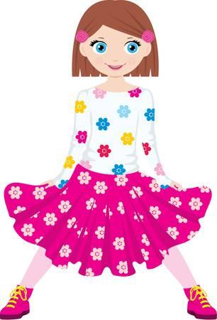 Girl in park Stock Vector - 11227703