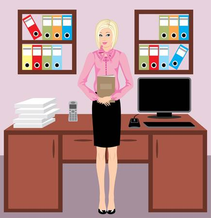 Businesswoman in office Stock Vector - 11227700