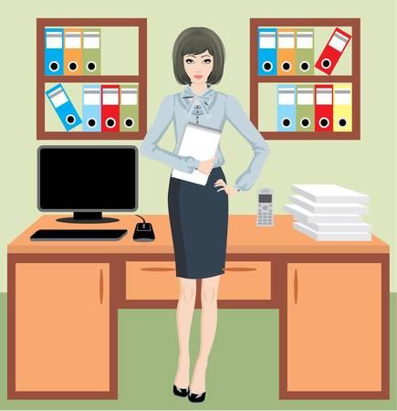 офис: Бизнесмен в офисе