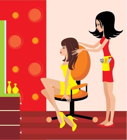 taglio capelli: Donna in un salone di bellezza