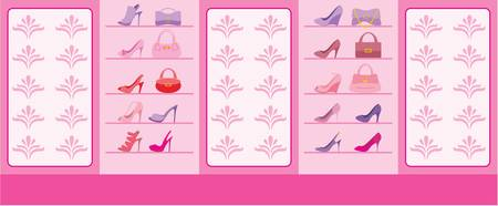 Interior of shop of shoes Stock Vector - 11376260