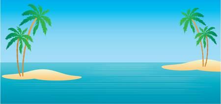 blue lagoon: Isole tropicali con palme