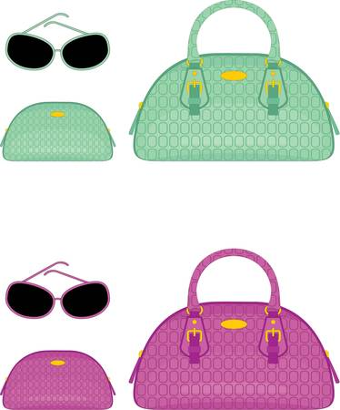womens: Female bags, beauticians and sun glasses