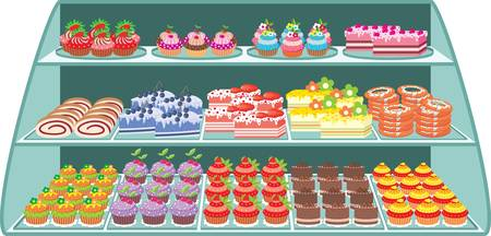 vanilla pudding: Sweet shop Illustration