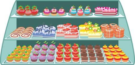gelatina: Tienda de dulces Vectores