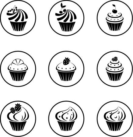 batch: Cupcakes set