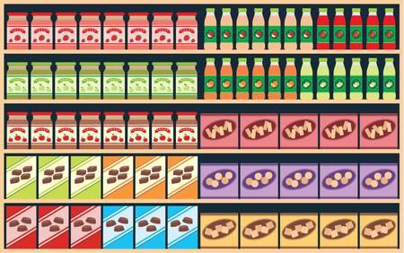 estanterias: Regimientos con productos Vectores