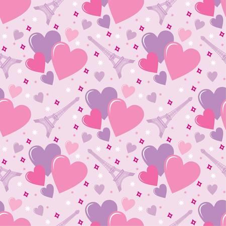 deiffel: Seamless hearts pattern