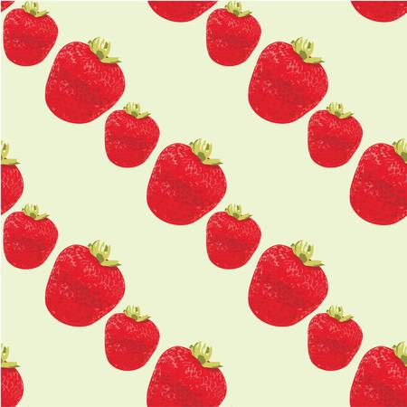 rapport: Seamless strawberries pattern Illustration