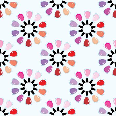 Seamless nail polish pattern Vector