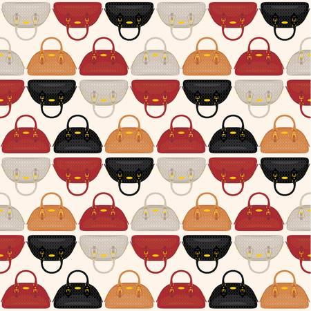 stylish woman: Seamless bags pattern