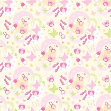 rattle: Seamless children things pattern
