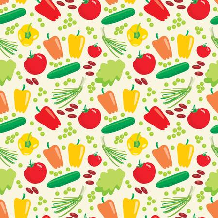 eatable: Seamless vegetables pattern