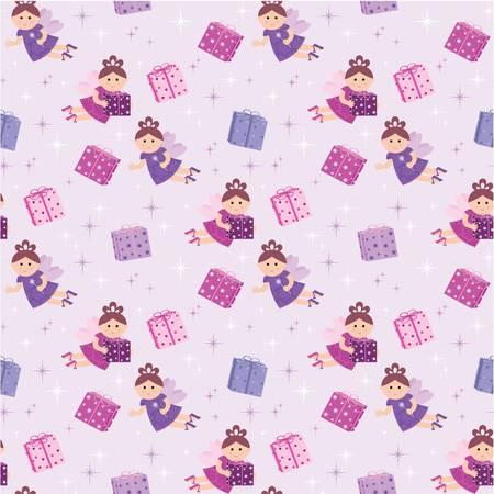 girlish: Seamless fairy pattern