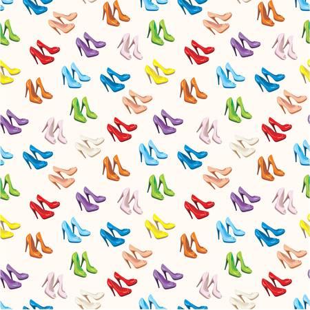 stilettos: Seamless shoes pattern