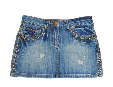 denim skirt: Jean skirt. Mini Stock Photo