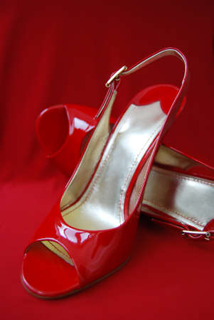 womanish: Red womanish sandals