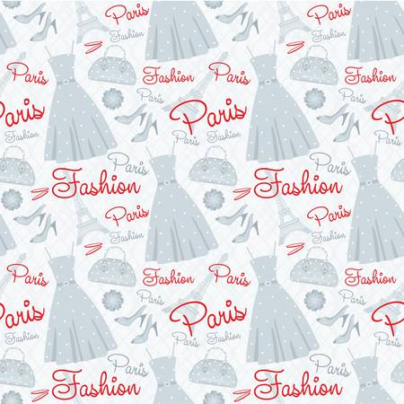 designer clothes: Seamless fashion pattern Illustration