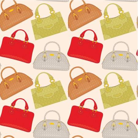 fraue: Nahtlose Muster Taschen