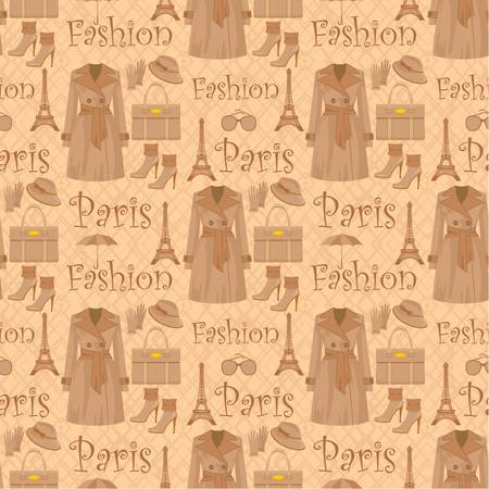 Seamless fashion pattern Stock Vector - 11877633