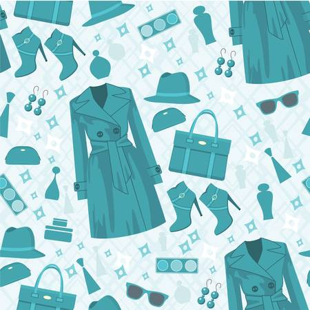 Seamless fashion pattern Vector