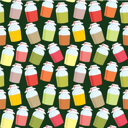 Seamless jars with jem pattern Vector