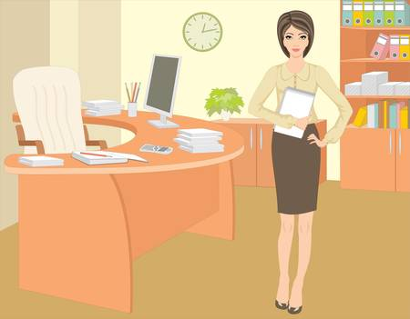 office cabinet: Businesswoman in office