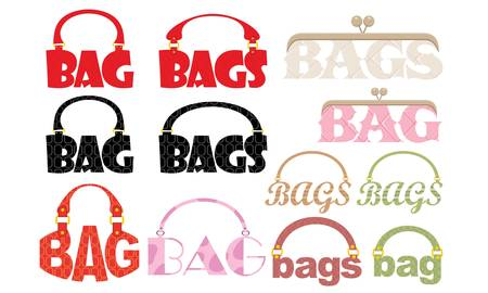 handbags: Word of bag in the form of a logotype