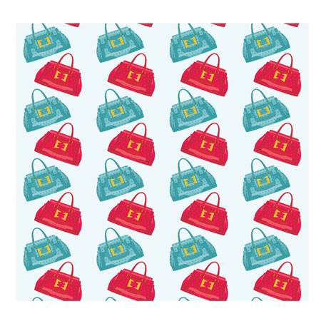 Seamless bags pattern Vector