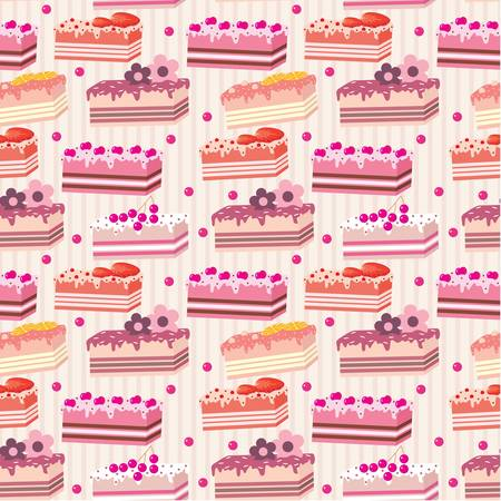 blueberry pie: Seamless cake pattern