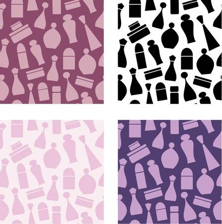 cosmetics collection: Seamless cosmetic pattern Illustration
