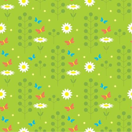 Seamless flowers pattern Vector