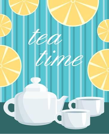 tea set: Card. Menu Tea service