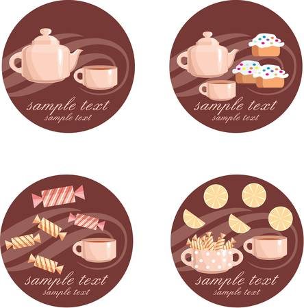 tea set: Tea set Illustration