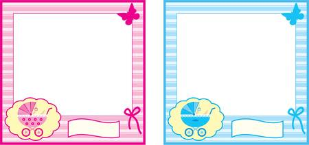 Baby photo frame. Vector