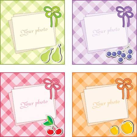 girls with bows: Frame photo. Illustration