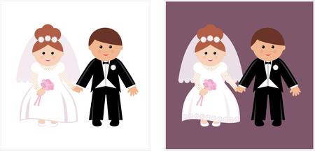Wedding couple. Stock Vector - 12189943
