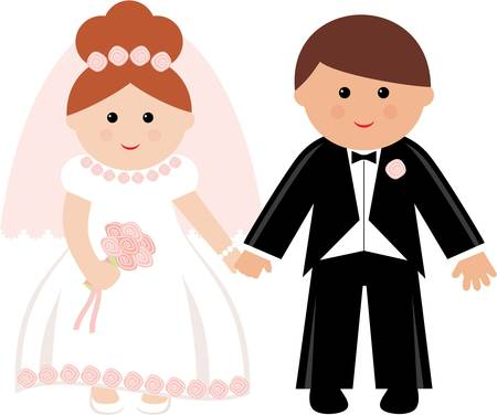 Wedding couple. Vector