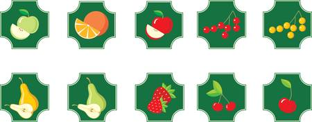Fruits. Set of icons. Stock Vector - 12189960