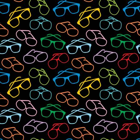 Seamless sun glasses accessories pattern