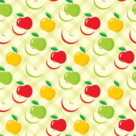 apple slice: Seamless apples pattern Illustration
