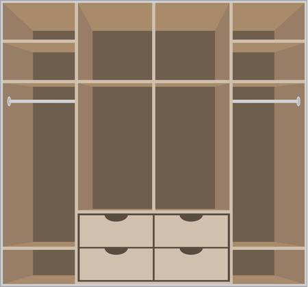 Wardrobe room. Furniture Vector
